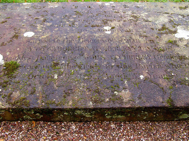 Sarah Edwards (nee Atcherley), monumental inscription
