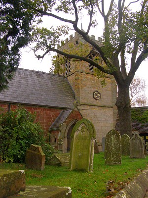 Myddle church, Shropshire