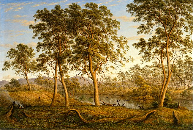 Tasmania, Natives on the Ouse River