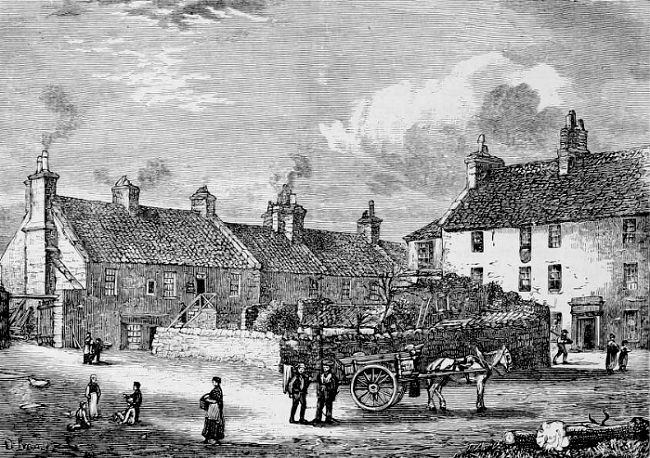 Remains of Old Broughton village, 1852
