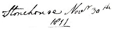 Atcherley, Christiana - letter 1811 header