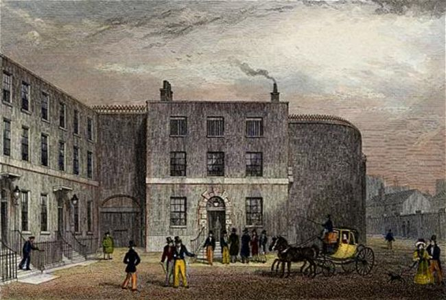 King's Bench Prison, principal entrance, 1828