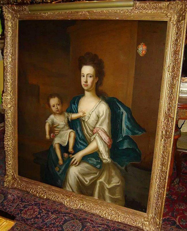 Lowndes, Margaret nee Atcherley - oil painting (1)
