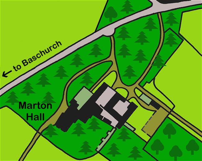 Plan of Marton Hall and grounds