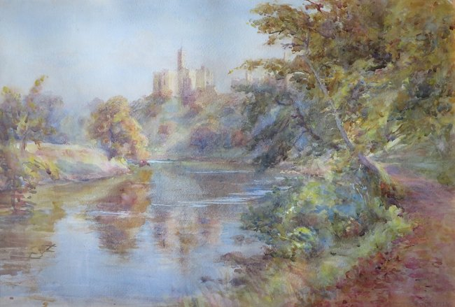 Atcherley, Ethel - painting, Warkworth Castle v3