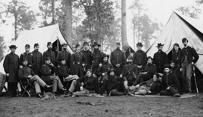 events - American Civil War - 80th NY Infantry officers