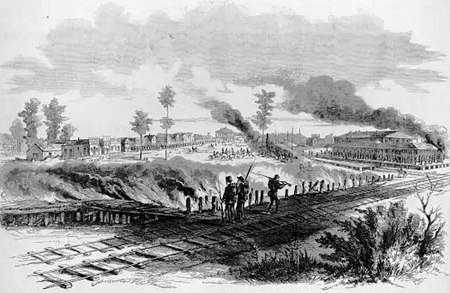 events - American Civil War - evacuation of Corinth, 1862