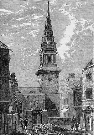 London, St Bride, Fleet Street - 1824