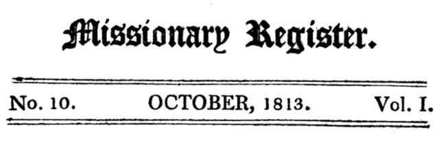 Missionary Register Oct 1813