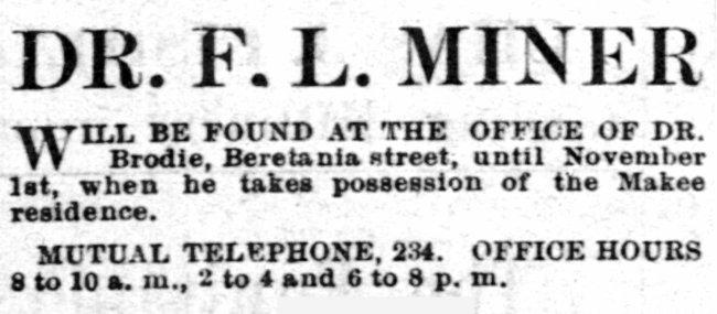 F L Miner - Pacific Commercial Advertiser, 1 Jun 1887
